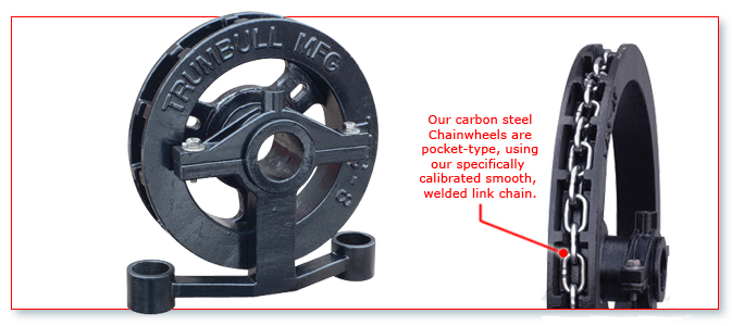Chain Driven Valves : Carbon steel chainwheels « trumbull manufacturing inc