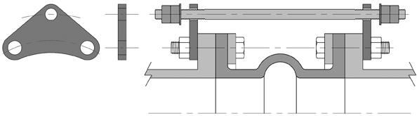flange lugs trumbull manufacturing inc. Black Bedroom Furniture Sets. Home Design Ideas