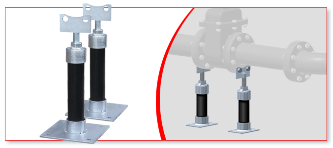 Adjustable Pipe Supports Flange Style Trumbull