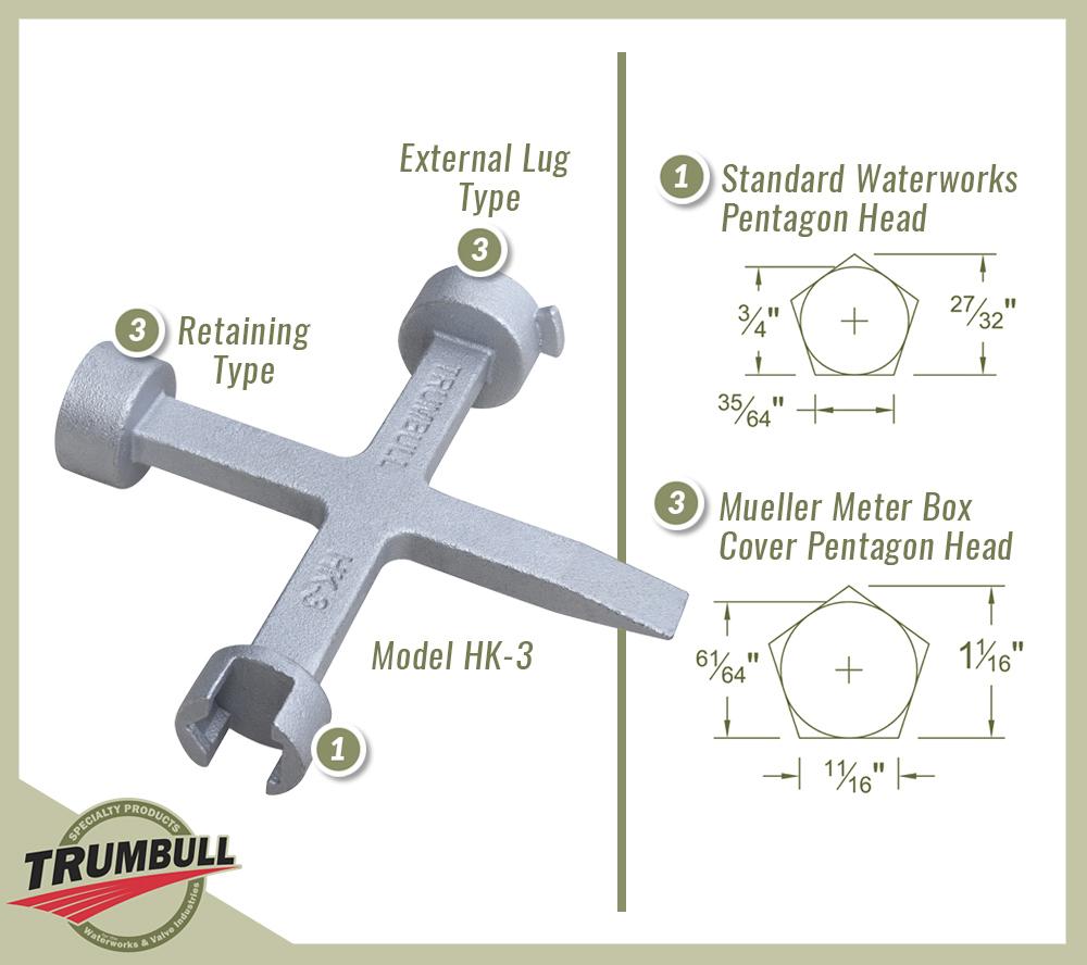Pentagon Hand Keys Trumbull Manufacturing Inc