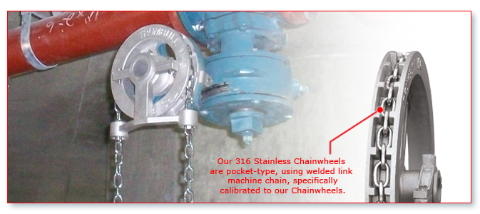 Chain Driven Valves : Stainless steel chainwheels « trumbull manufacturing inc